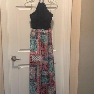 Halter maxi dress size M